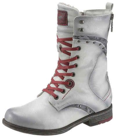 Mustang Shoes Winterstiefel in auffälliger Used-Optik 789d73c1dd