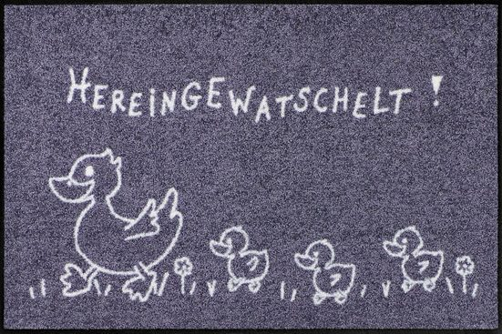 Fußmatte »Hereingewatschel«, Salonloewe, rechteckig, Höhe 7 mm, In- und Outdoor geeignet