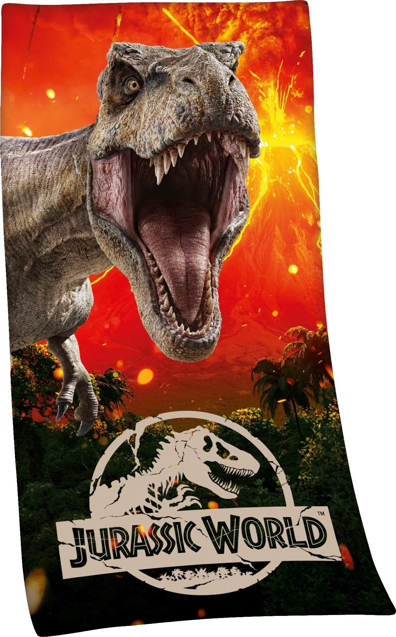 Badetuch »Jurassic World«, mit Dino Motiv