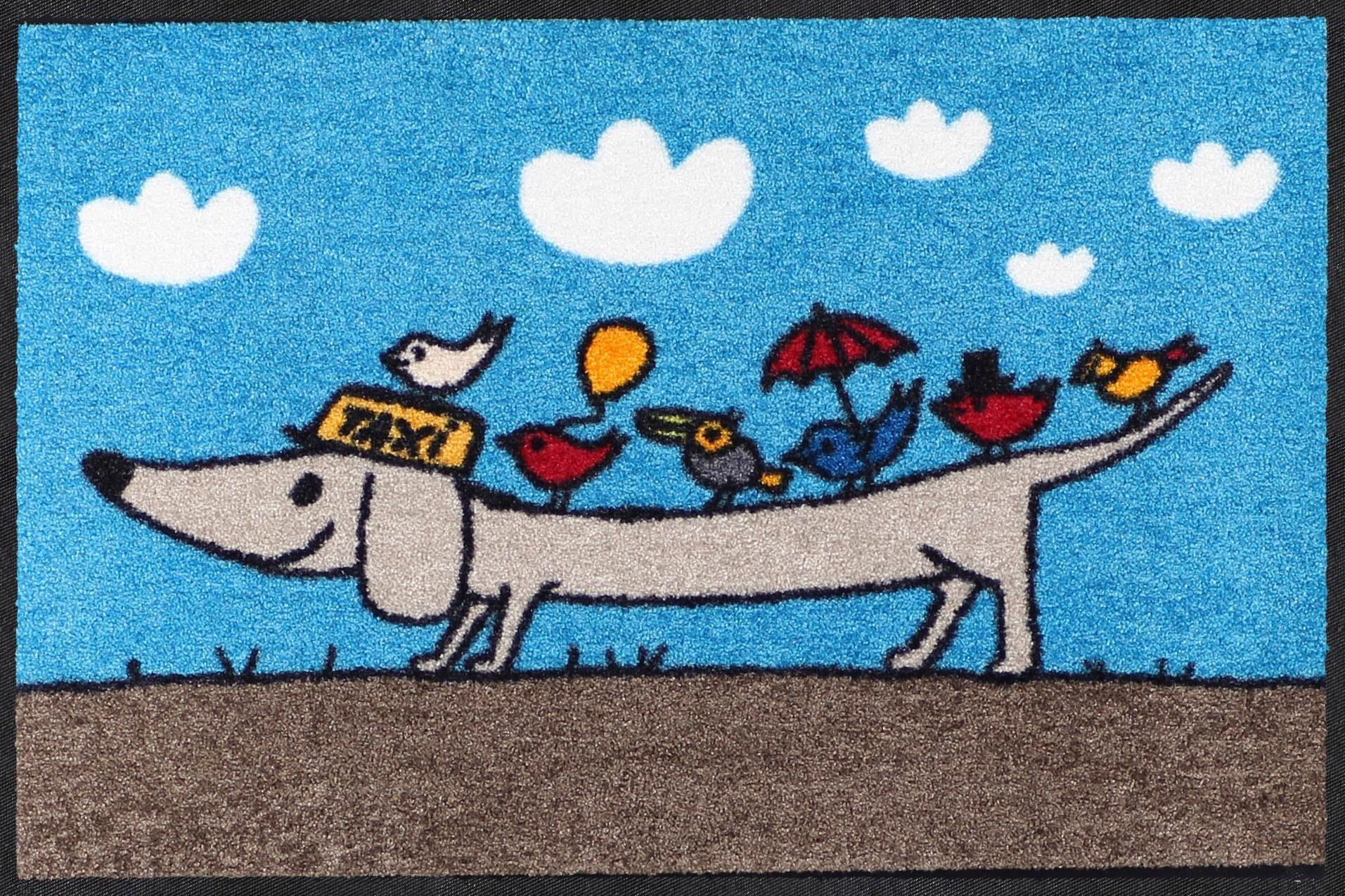 Fußmatte »Joe le taxi«, Salonloewe, rechteckig, Höhe 7 mm