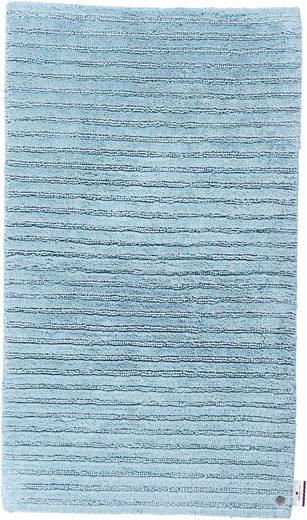 Badematte »Cotton Stripes« TOM TAILOR, Höhe 20 mm, rutschhemmend beschichtet, fußbodenheizungsgeeignet, strapazierfähig, besonders weich und flauschig