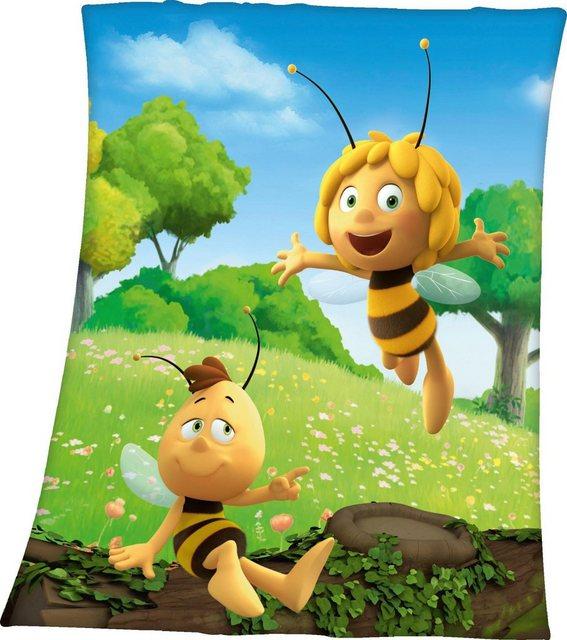 Kinderdecke »Biene Maja«, Die Biene Maja, mit Biene Maja Motiv   Kinderzimmer > Textilien für Kinder > Kinderbettwäsche   Polyester   Die Biene Maja