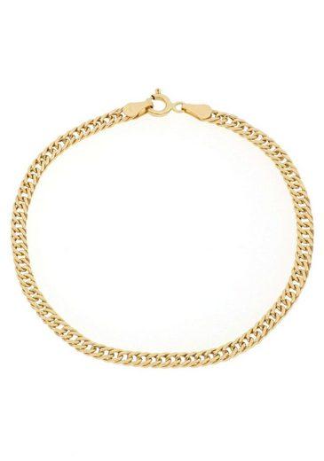 Firetti Goldarmband »Doppelpanzerkettengliederung, Diamantiert, 3,4 mm breit«