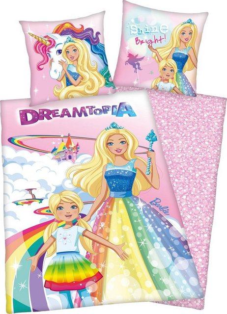 Kinderbettwäsche »Barbie Dreamtopia«, Mattel®, mit Barbie | Kinderzimmer > Textilien für Kinder > Kinderbettwäsche | Baumwolle | Mattel®
