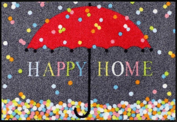 Fußmatte »Schirm Konfetti«, Salonloewe, rechteckig, Höhe 7 mm, In- und Outdoor geeignet