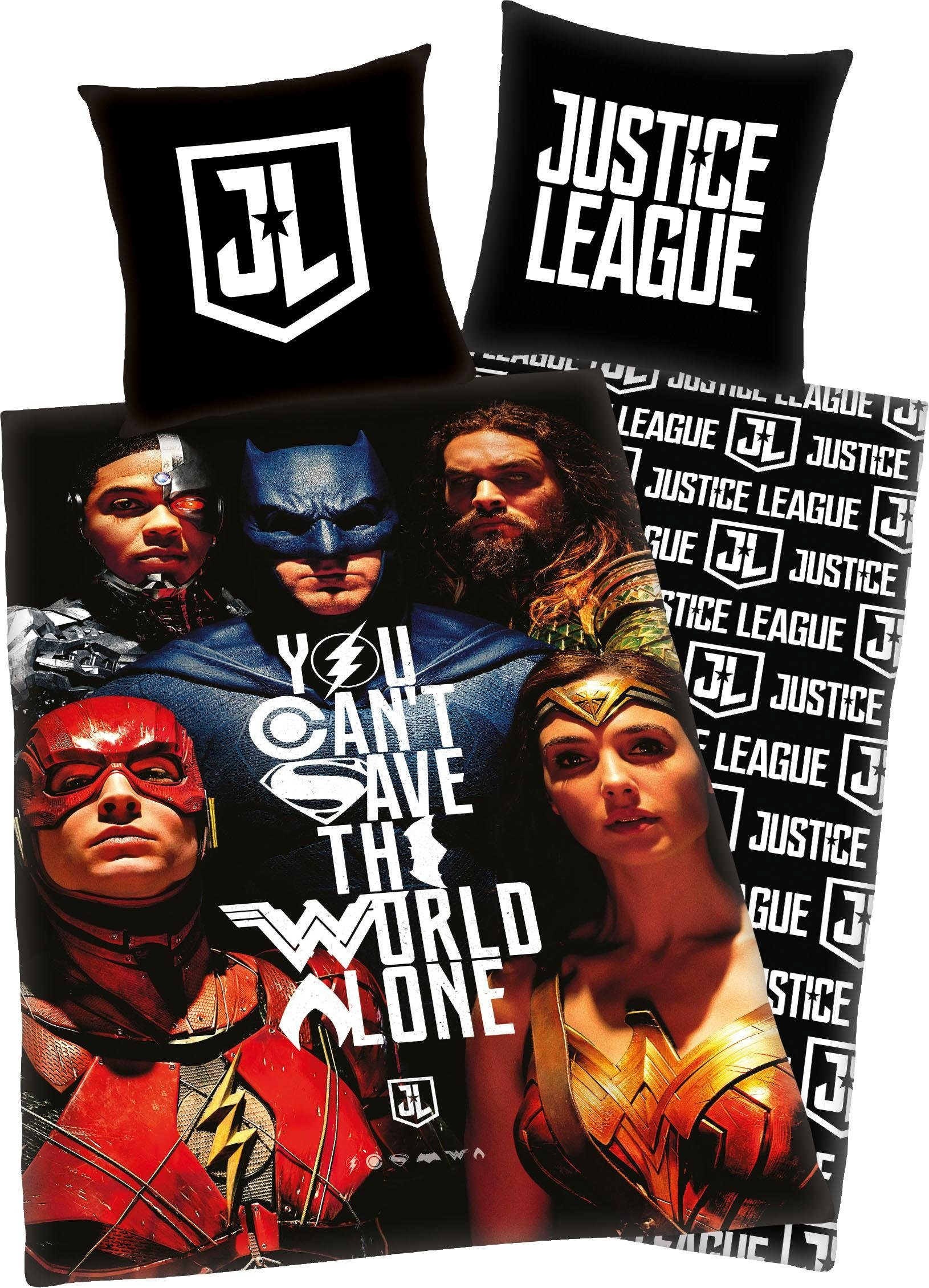 Kinderbettwäsche »Justice League«, mit Fotomotiv