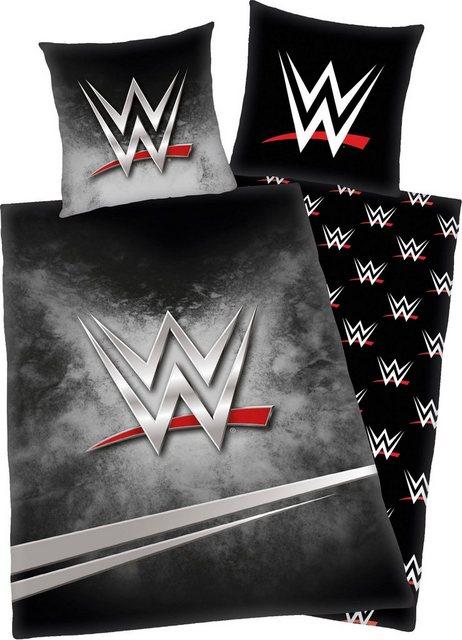 Jugendbettwäsche »World Wrestling«, mit Logo   Kinderzimmer > Textilien für Kinder > Kinderbettwäsche   Baumwolle   OTTO