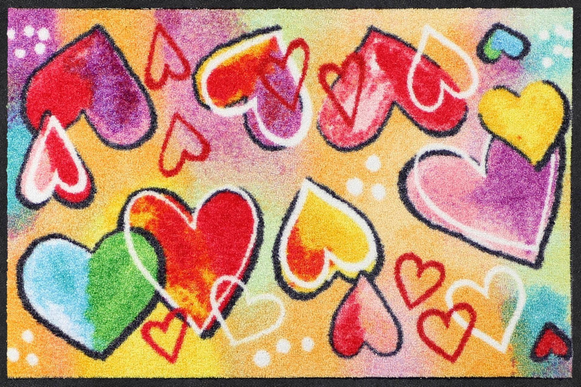 Fußmatte »Heartbeat«, Salonloewe, rechteckig, Höhe 7 mm