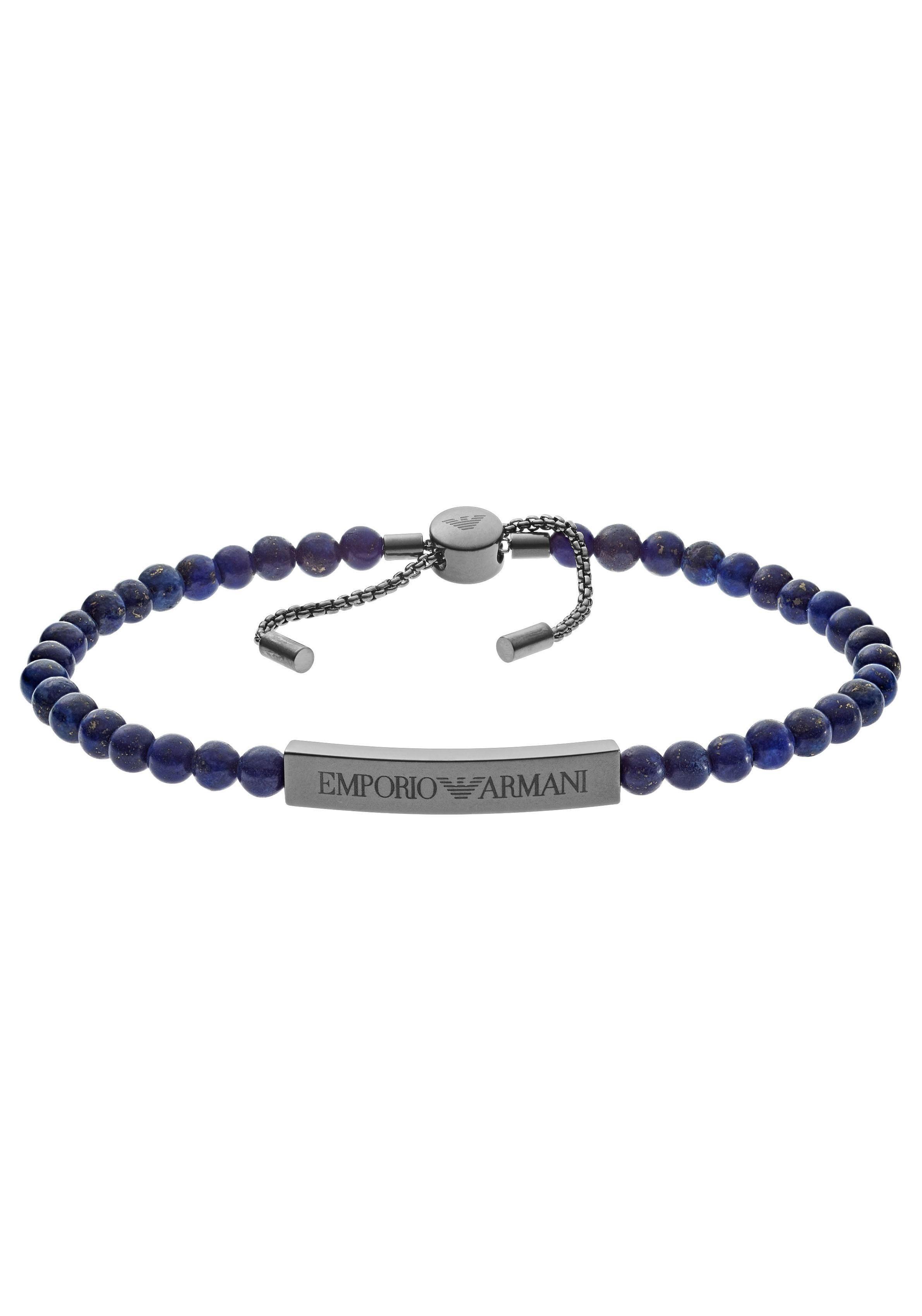 Emporio Armani Armband »EGS2505060« mit Lapislazuli