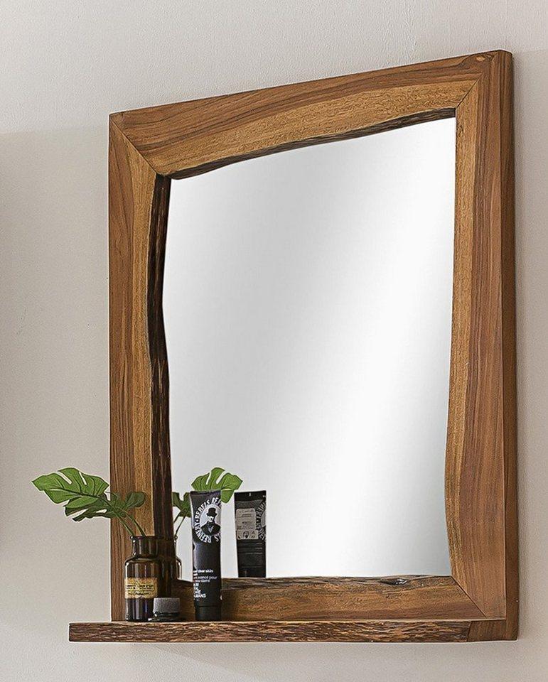 Kasper-Wohndesign Badezimmer Spiegel Akazie Massiv-Holz Live Edge braun | 04250385965791