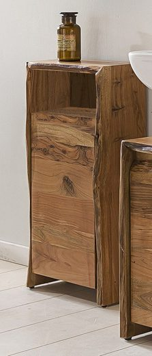 Kasper-Wohndesign Badezimmer Schrank klein Akazie Massiv-Holz »Loft Edge«