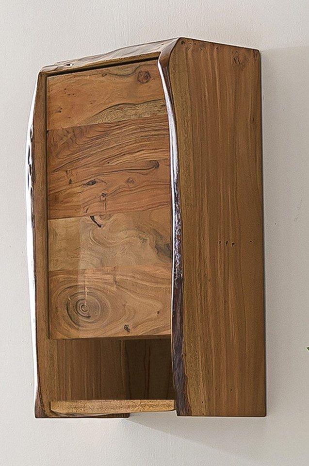 Kasper-Wohndesign  Badezimmer Hängeschrank Akazie Massivholz Live Edge braun | 04250385965777