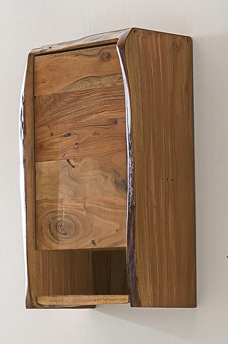 Kasper-Wohndesign Badezimmer Hängeschrank Akazie Massivholz »Live Edge«