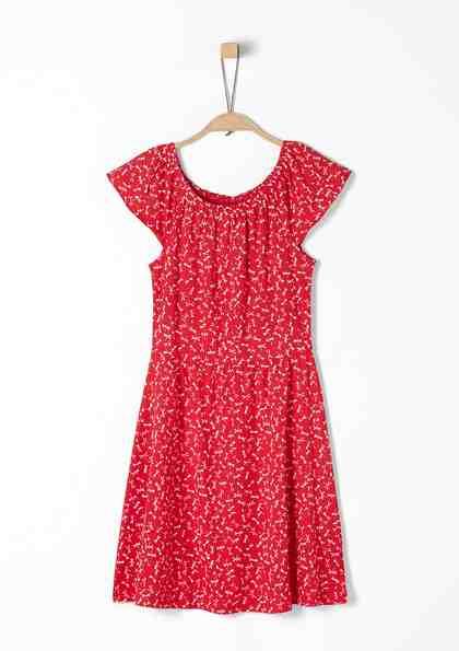 s.Oliver RED LABEL Junior Jerseykleid mit Elastik-Ausschnitt für Mädchen