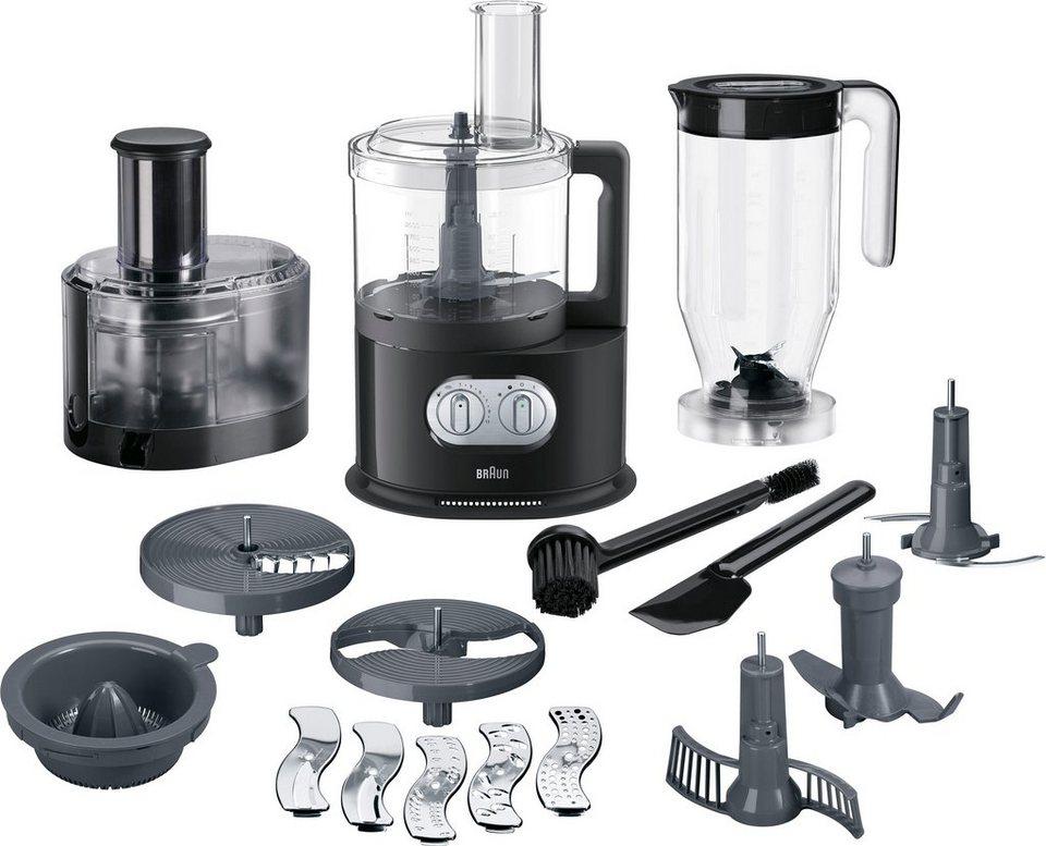 Braun Küchenmaschine mit Kochfunktion FP 5160, 1000 W, 2 l Schüssel ...