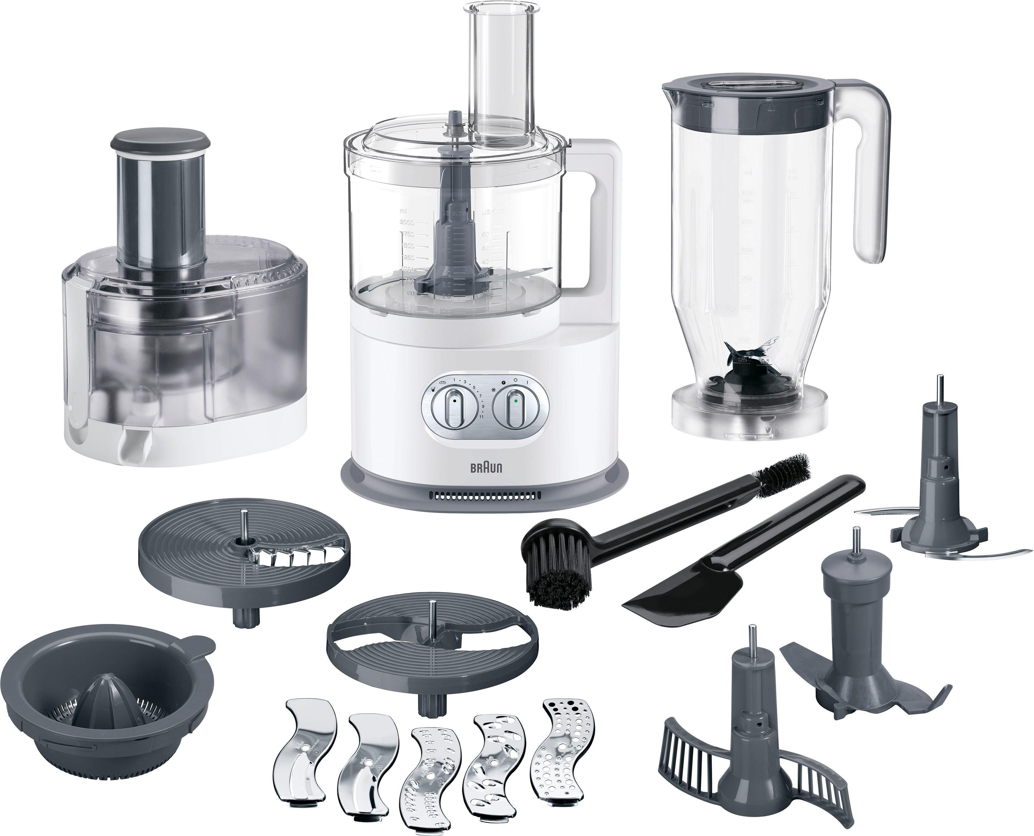 Braun Küchenmaschine mit Kochfunktion FP 5160, 1000 W, 2 l Schüssel