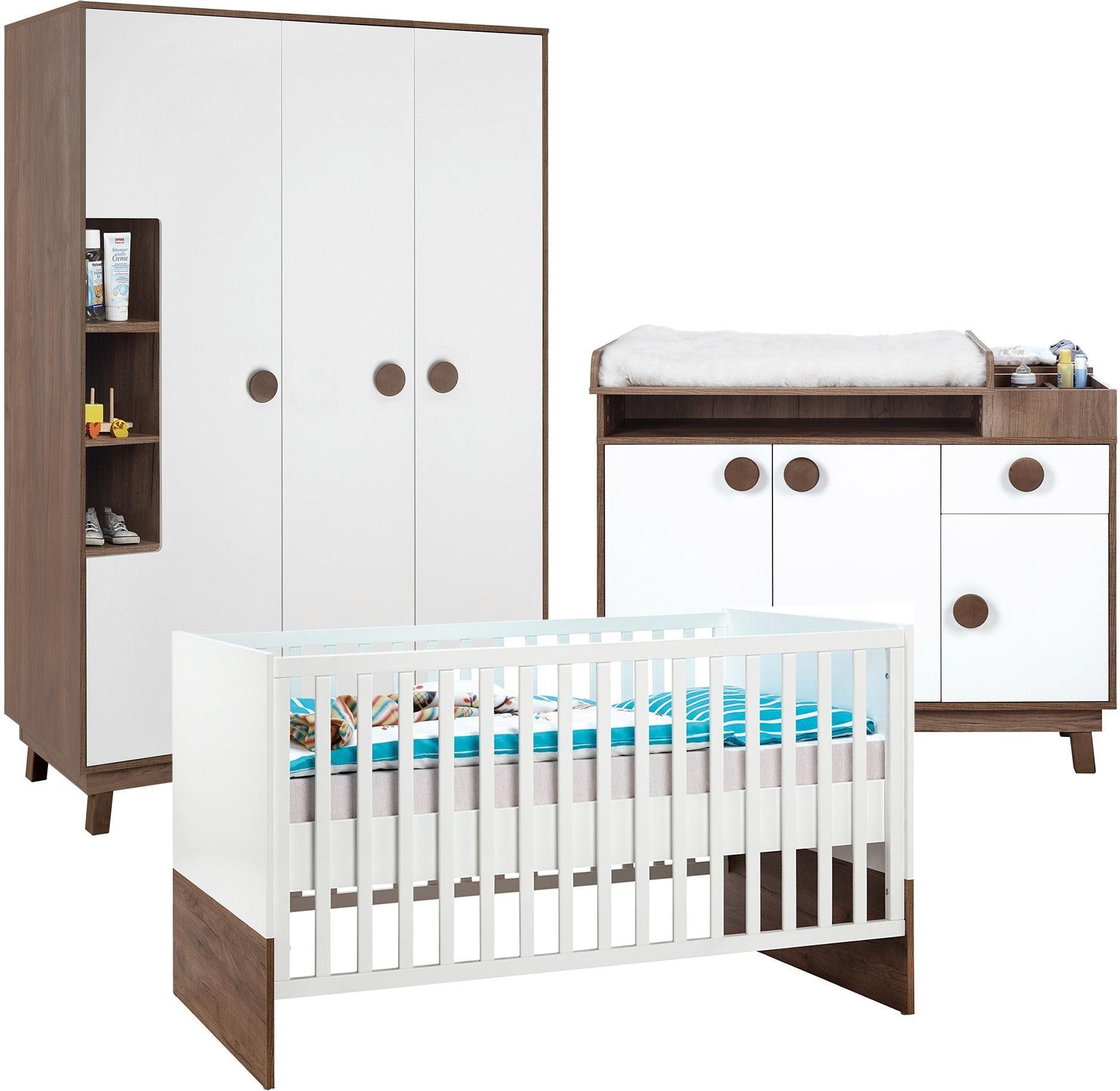 Roba Babyzimmer Set (3-tlg.), Kinderzimmer, »Nordic Star, 3-türig«