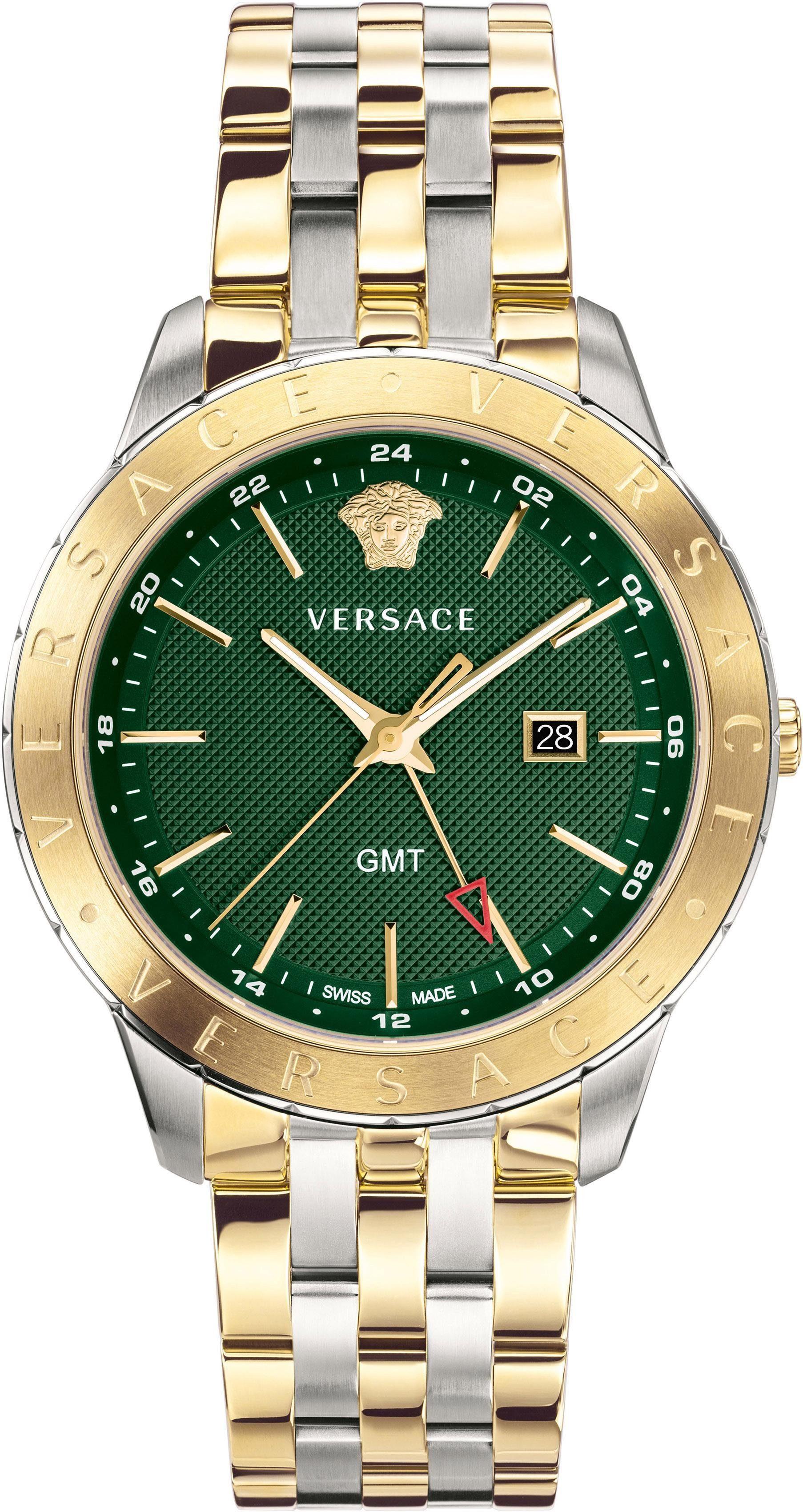 Versace Schweizer Uhr »Univers, VEBK00718« mit GMT