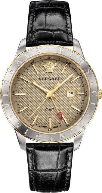 Versace Schweizer Uhr »Univers, VEBK00218« mit GMT | Uhren > Schweizer Uhren | Schwarz | Versace