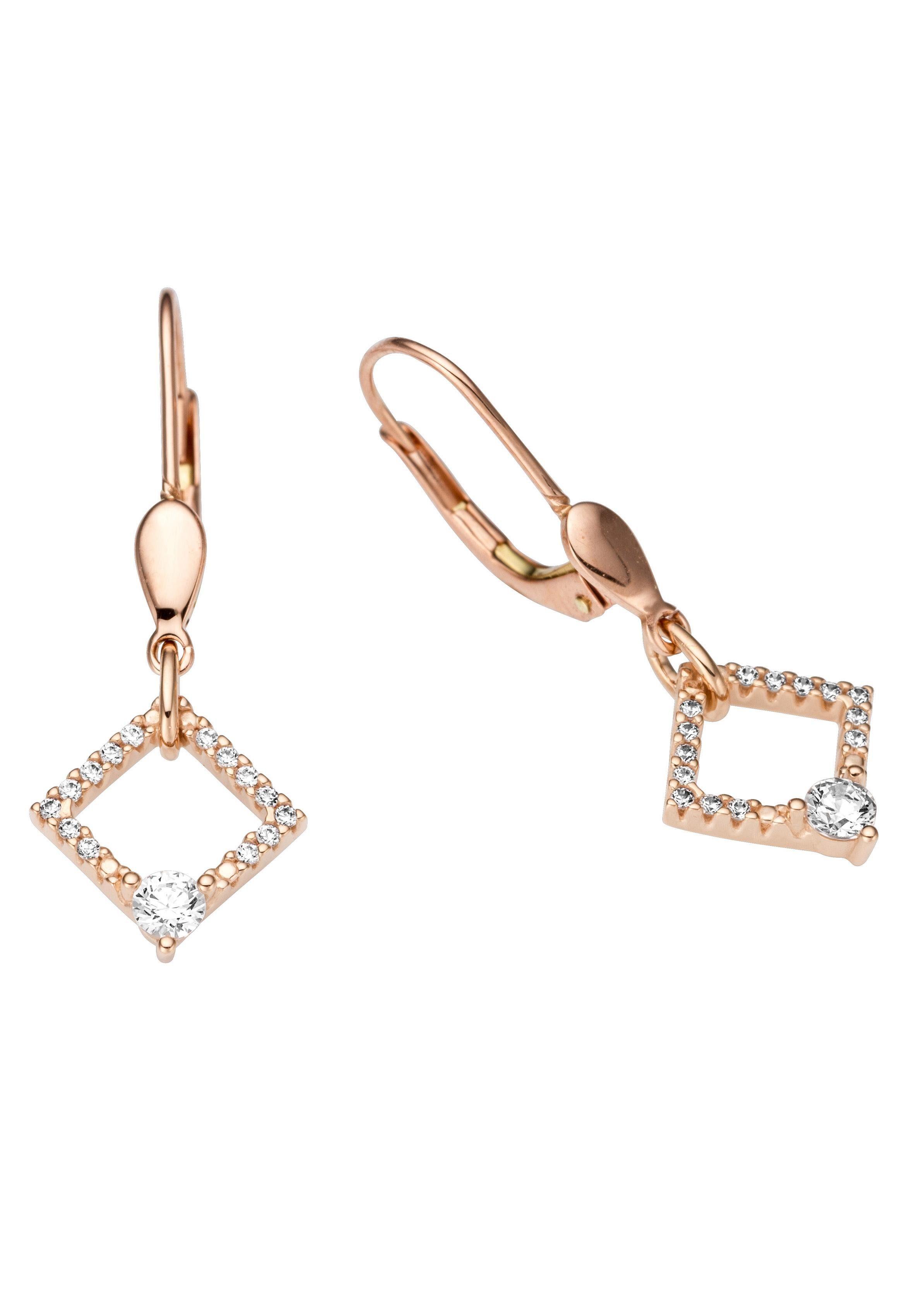 Firetti Paar Ohrhänger mit Zirkonia