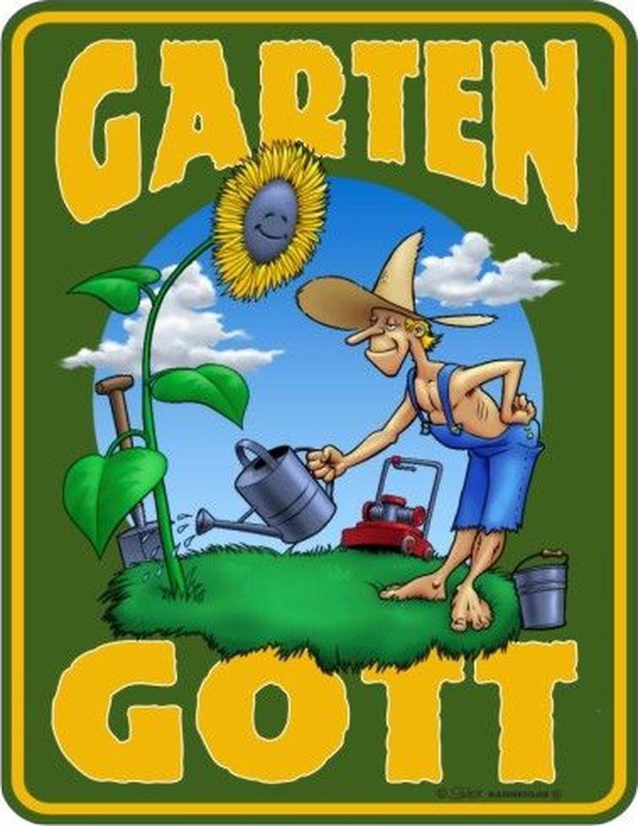 Rahmenlos Blechschild für den Gärtner