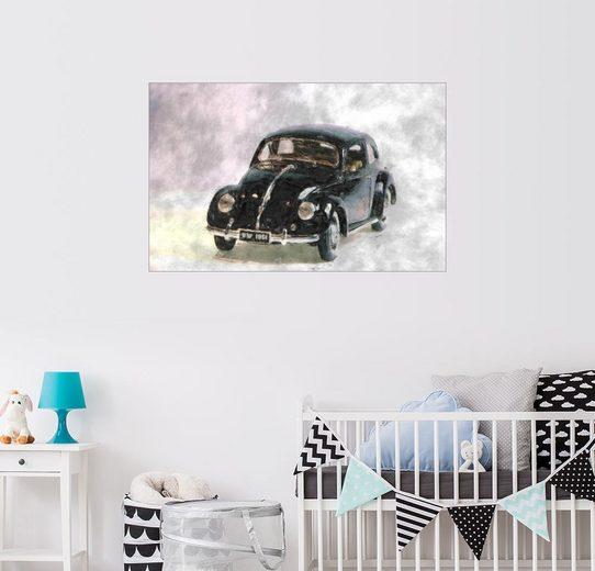 Posterlounge Wandbild - LoRo-Art »Oldtimer VW 1951 Käfer«