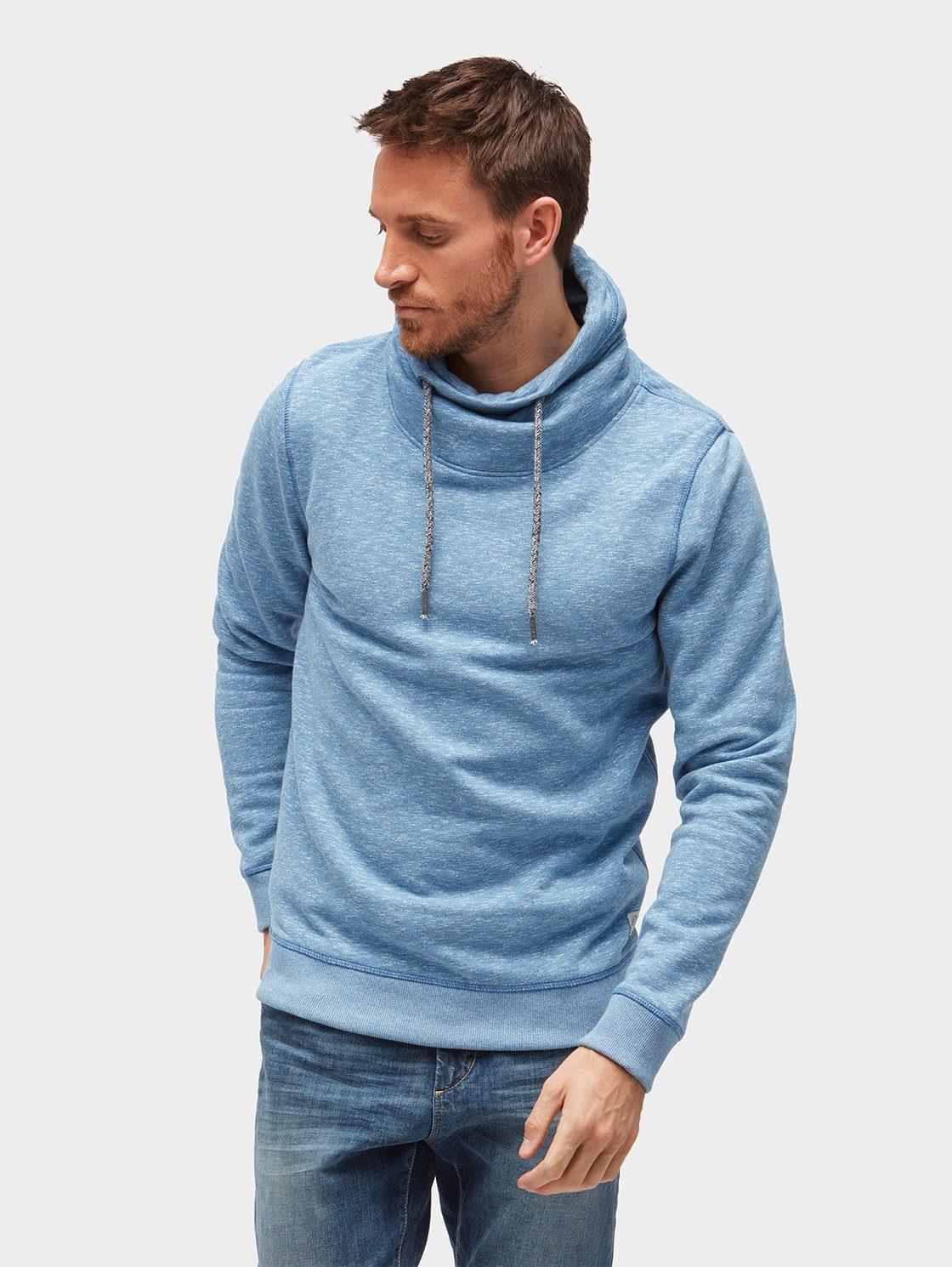 TOM TAILOR Sweater »Sweatshirt in Melange-Optik mit Schlauchkragen«