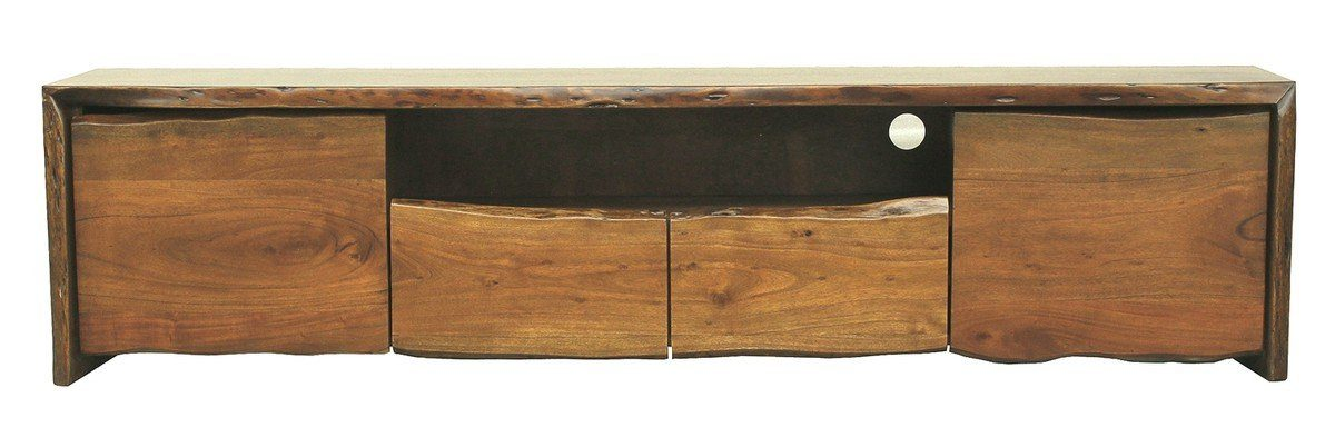 Kasper-Wohndesign TV-Board groß Lowboard Akazie Massiv-Holz Baumkante »Live Edge«
