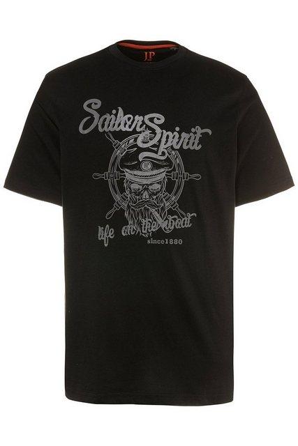 jp1880 -  T-Shirt bis 7XL, T-Shirt bedruckt, Oberteil mit Seefahrer-Motiv, Rundhalsausschnitt, reine Baumwolle