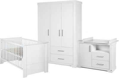 roba® Babyzimmer-Komplettset »Maxi«, (Set, 3-St), 3-türig; mit Kinderbett, Schrank und Wickelkommode