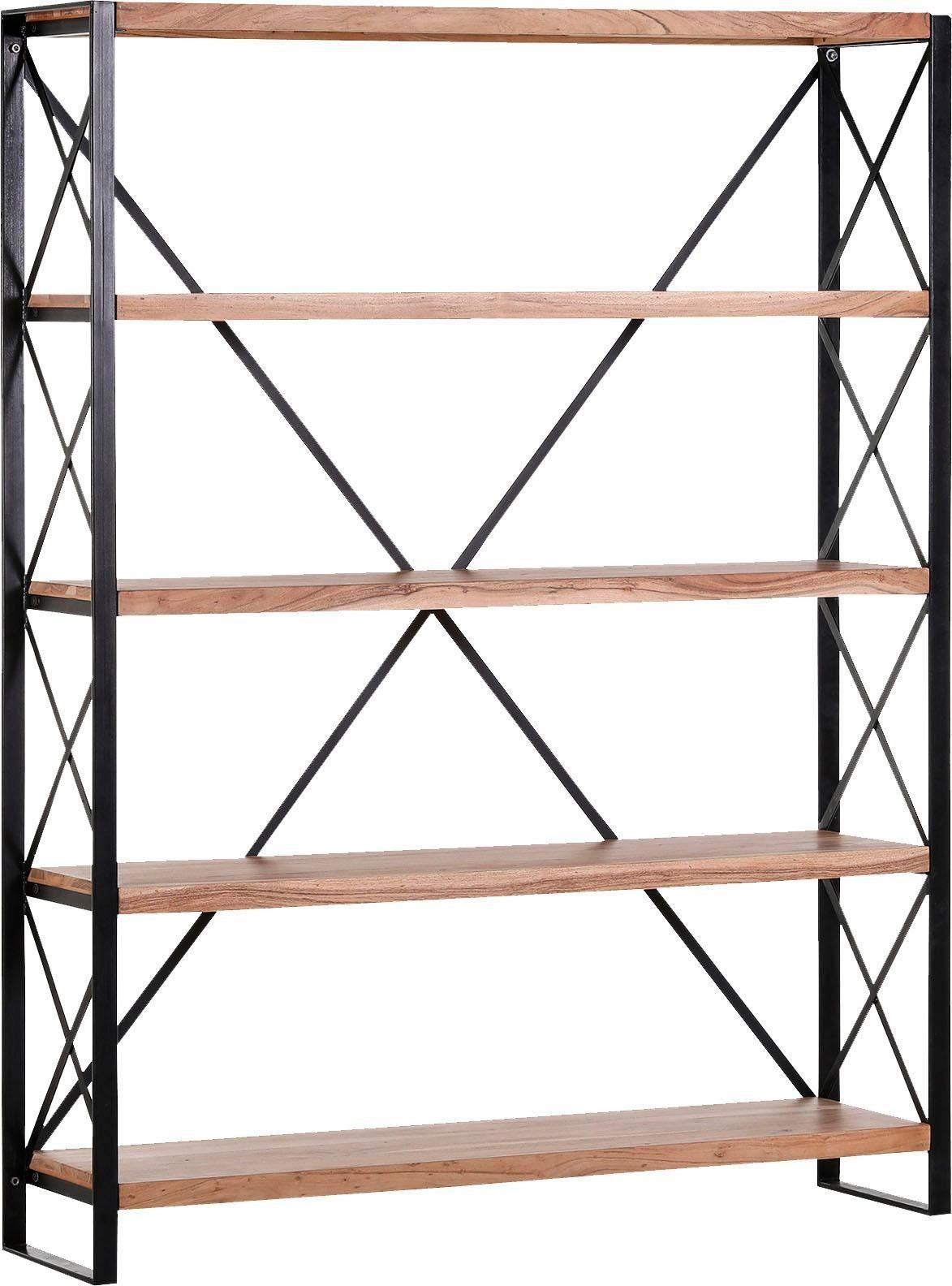 Gutmann Factory Raumteiler »Downtown«, aus massivem Akazienholz mit Diagonalverstrebungen, Höhe 190 cm