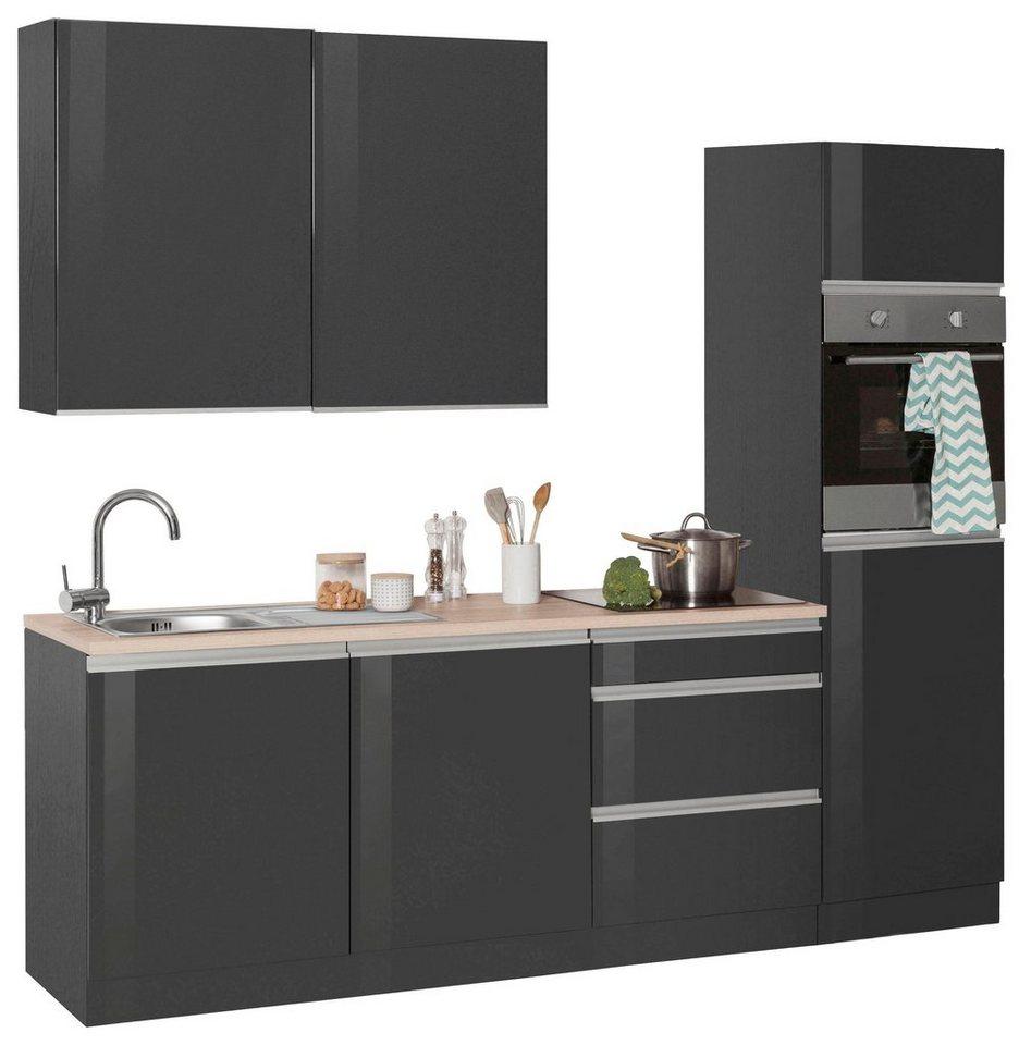 held m bel k chenzeile ohio ohne e ger te breite 240 cm bestehend aus 8 teilen online kaufen. Black Bedroom Furniture Sets. Home Design Ideas
