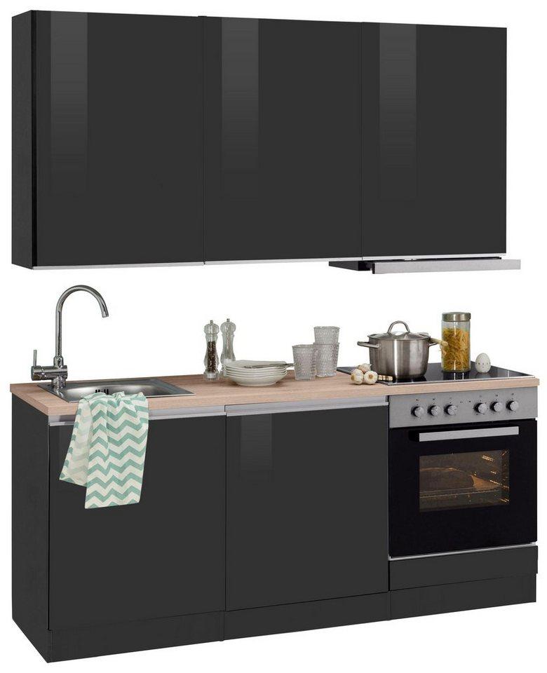 held m bel k chenzeile mit e ger ten ohio breite 180 cm online kaufen otto. Black Bedroom Furniture Sets. Home Design Ideas