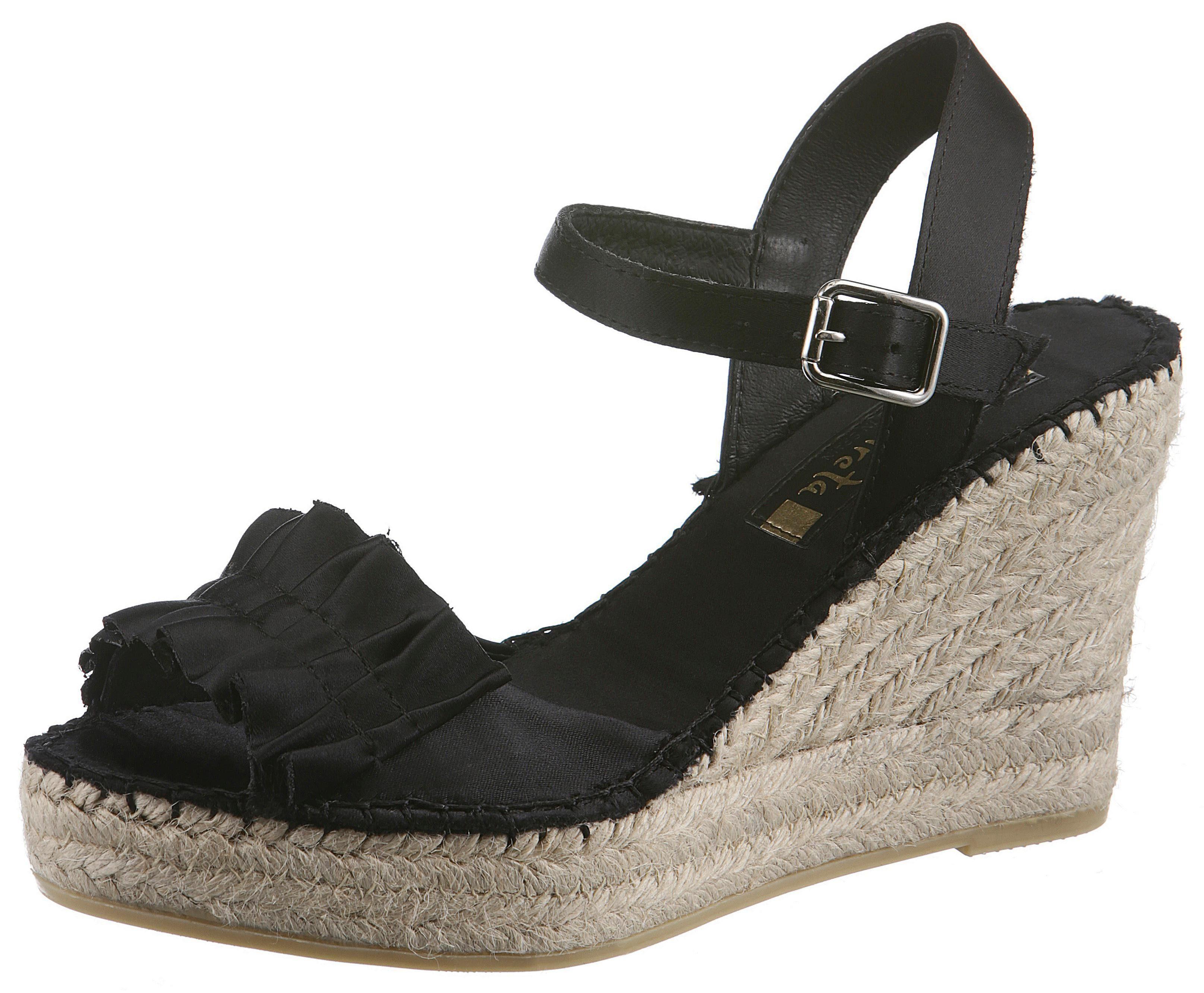 Vidorreta Sandalette, mit geraffter Bandage kaufen  schwarz