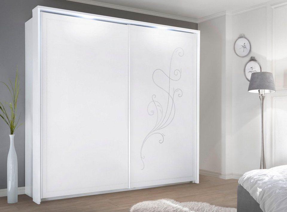 Lc Schwebeturenschrank Tivoli Dekorative Front Mit Siebdruck In Silber Grau Online Kaufen Otto