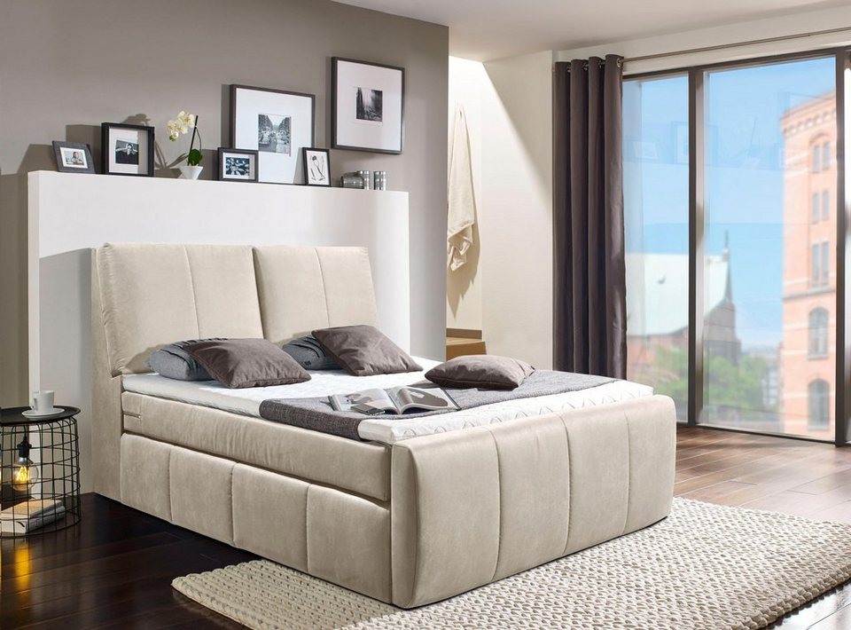 places of style boxspringbett verona2 mit staufach im kopfteil online kaufen otto. Black Bedroom Furniture Sets. Home Design Ideas