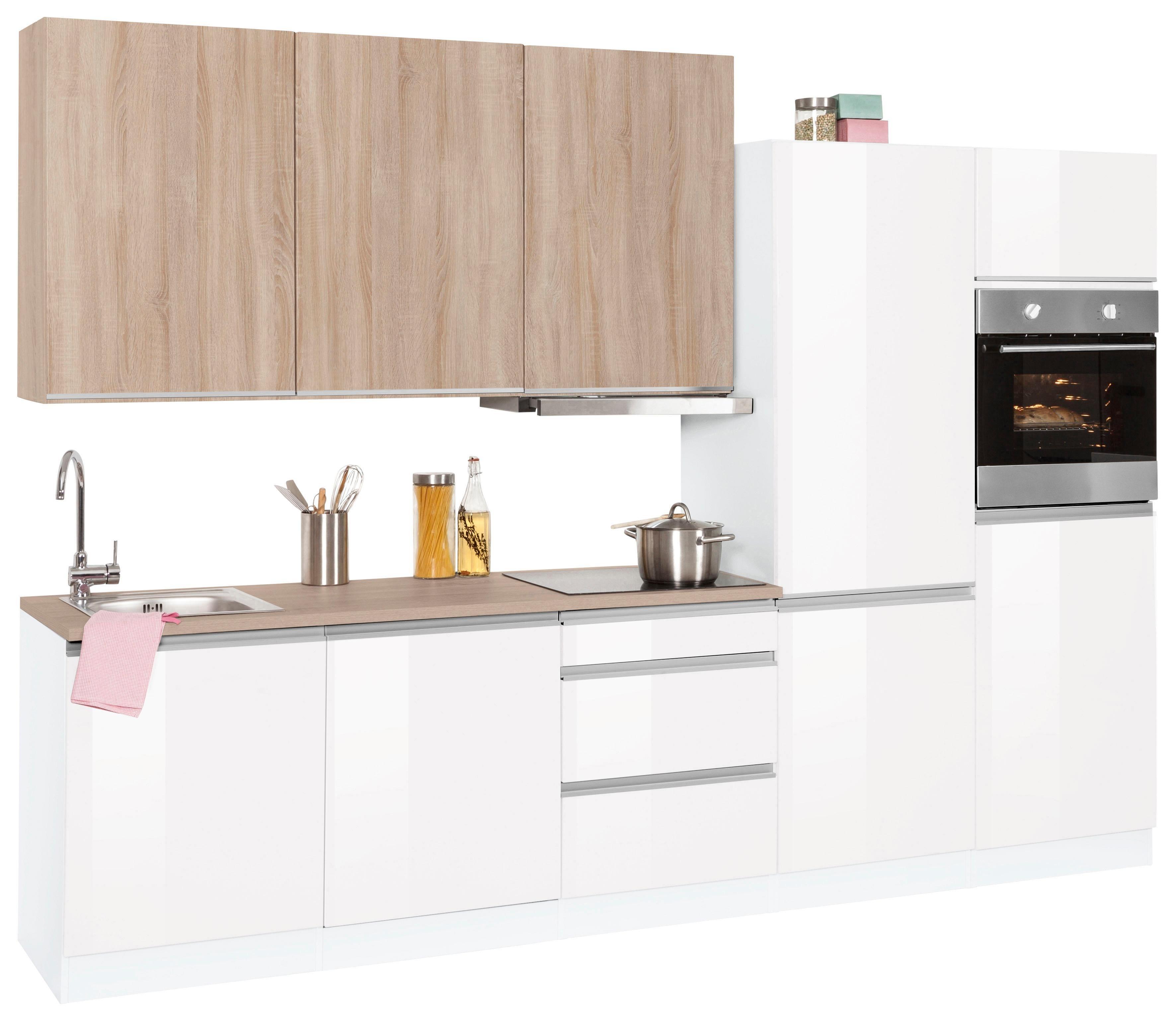 HELD MÖBEL Küchenzeile Mit E Geräten »Ohio«, Breite 300 Cm