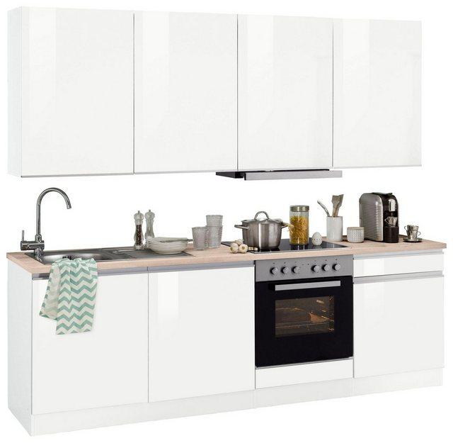 HELD MÖBEL Küchenzeile Ohio mit E-Geräten Breite 240 cm