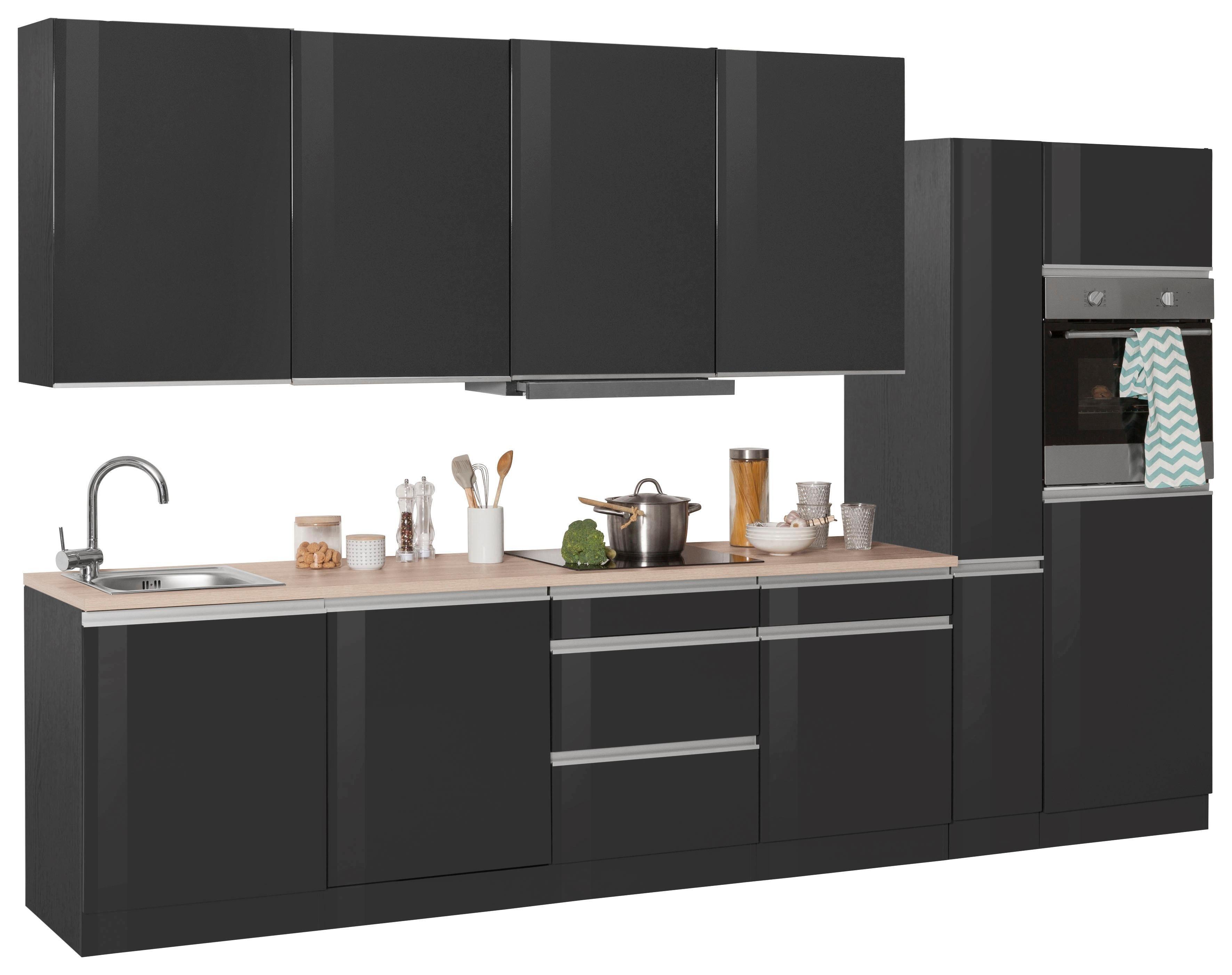 HELD MÖBEL Küchenzeile mit E-Geräten »Ohio«, Breite 330 cm