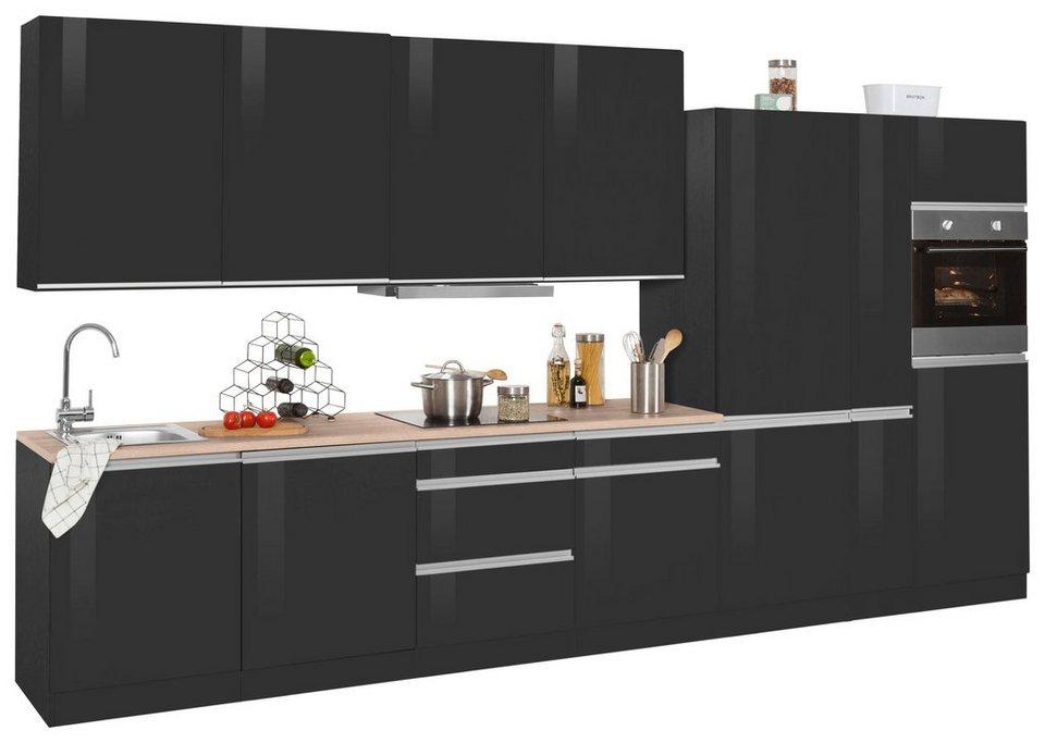 held mÖbel küchenzeile mit e-geräten »ohio«, breite 390 cm