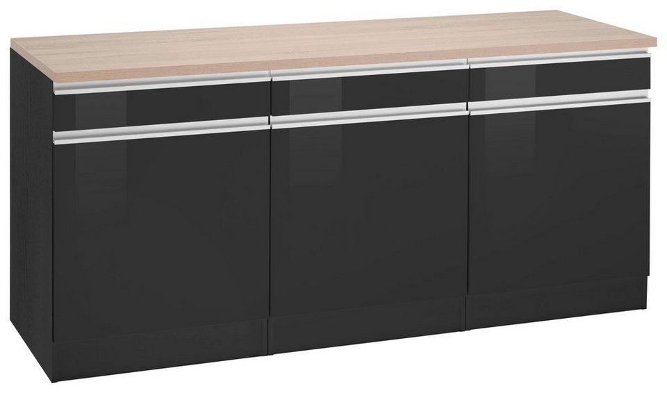 held m bel unterschrank ohio breite 180 cm 3 einlegeb den online kaufen otto. Black Bedroom Furniture Sets. Home Design Ideas
