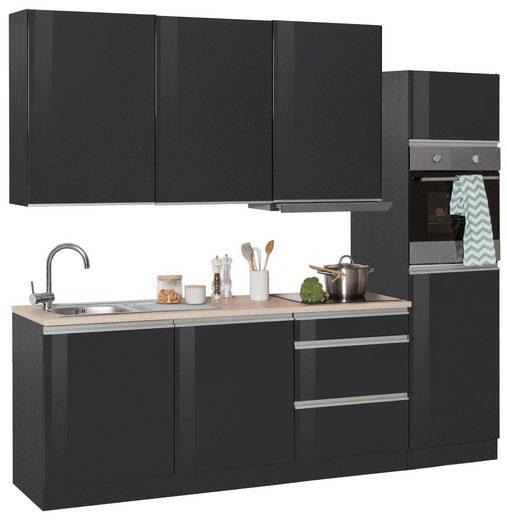 HELD MÖBEL Küchenzeile »Ohio«, mit E-Geräten, Breite 240 cm