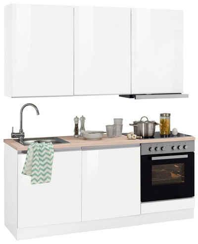 HELD MÖBEL Küchenzeile »Ohio«, mit E-Geräten, Breite 180 cm