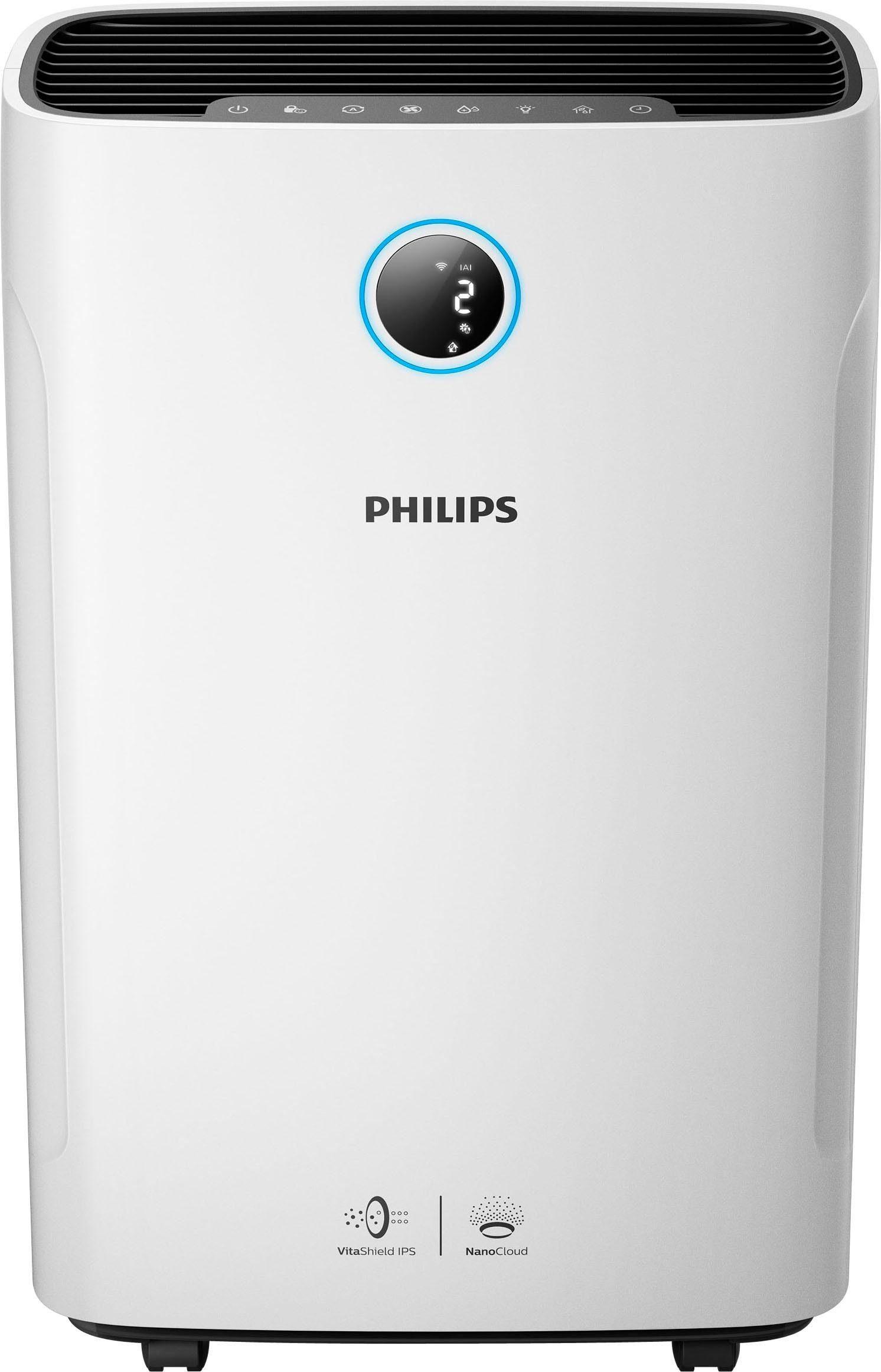 Philips Kombigerät Luftbefeuchter und -reiniger AC3829/10, für 80 m² Räume