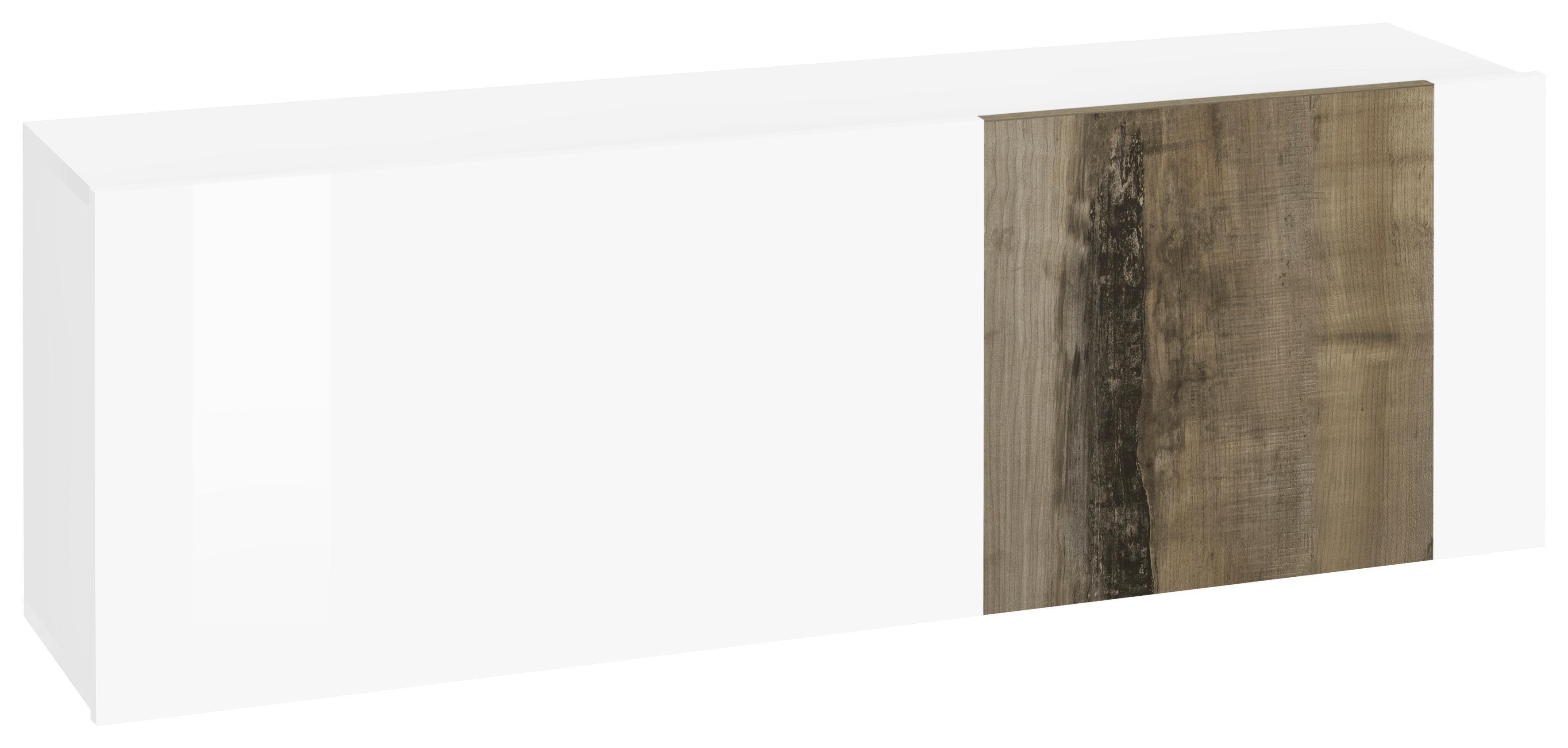 Schuhschrank »Cross« | Flur & Diele > Schuhschränke und Kommoden > Schuhschränke | Weiß | Beton - Eiche - Holz | Tecnos