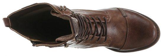 Mit Praktischem Innenreißverschluss Schnürstiefel Mustang Shoes q40ERgfng