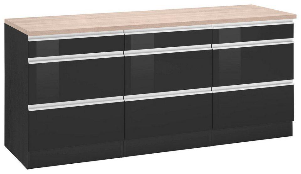held m bel unterschrank ohio breite 180 cm hochwertig verarbeitete mdf fronten online kaufen. Black Bedroom Furniture Sets. Home Design Ideas