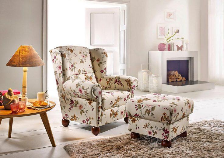 max winzer set ohrensessel mit hocker malm mit holz kugelf en online kaufen otto. Black Bedroom Furniture Sets. Home Design Ideas