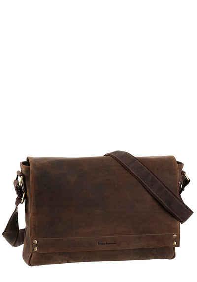 Bruno Banani Messenger Bag, in gepflegter Used Optik mit gepolstertem  Laptoptfach a71fc3de83