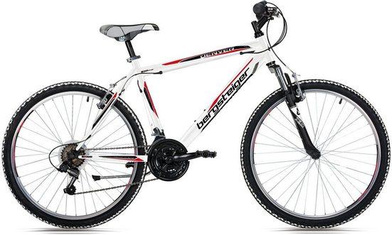 bergsteiger Mountainbike »Denver«, 18 Gang Shimano Tourney RD-TZ50 Schaltwerk, Kettenschaltung